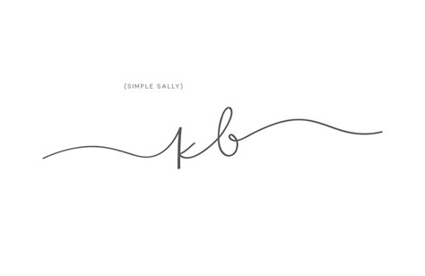simple designs simple initials logo kb for blattel 187 simple sally