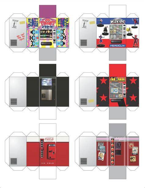 paper crafting machines heroclix vending machine papercraft heroclix 3d maps
