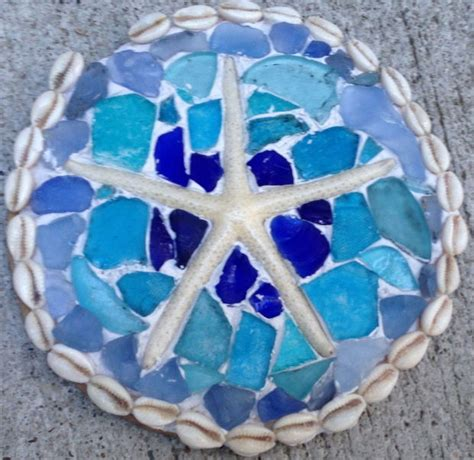 out of sea glass sea glass mosaic tabletop all