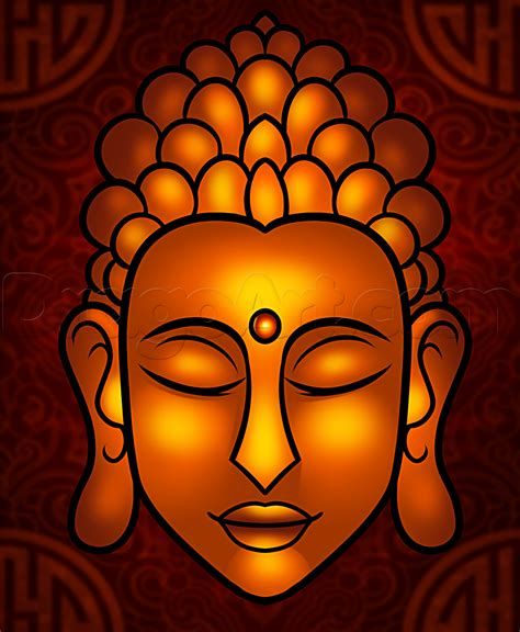 easy to draw how to draw buddha easy step by step faces free