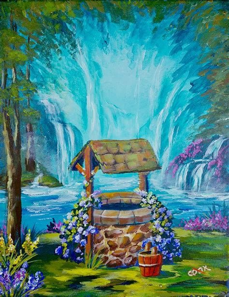 acrylic painting getting started heavenly wishing well a magical step by step beginner