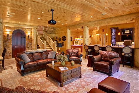 log homes interior incorporating indoor entertainment areas into your log home