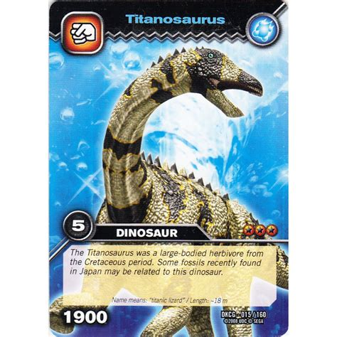 how to make dinosaur king cards deck dinosaur king card dkcg 015 titanosaurus common