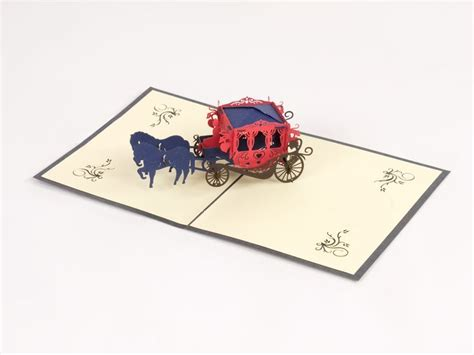 origami carriage popz carriage paperpopcards paperpopshop