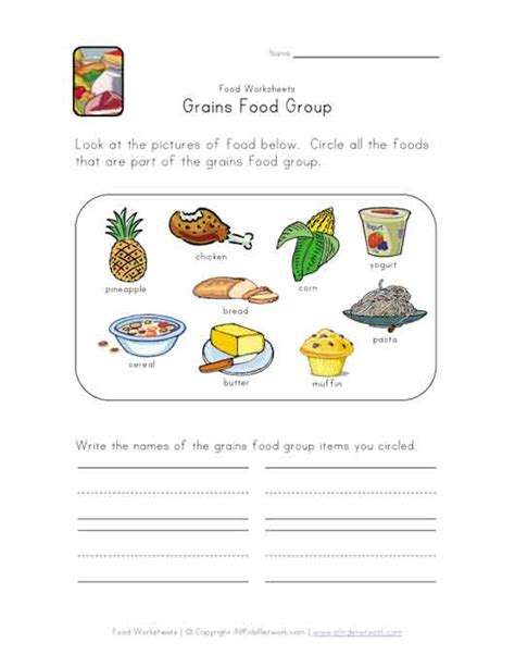 free printable for groups food groups worksheets free images