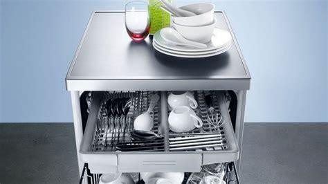 lave vaisselle 45 cm avec tiroir couverts table de cuisine