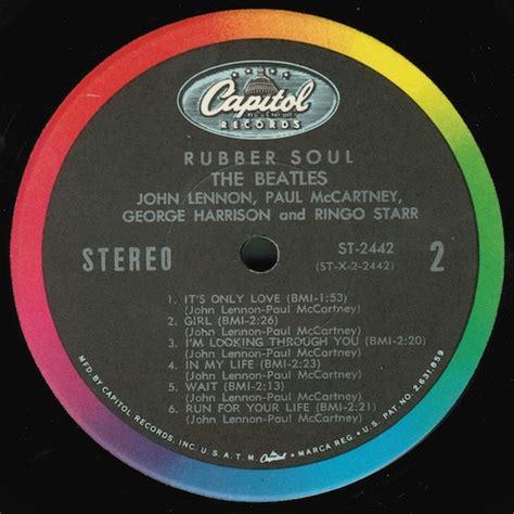 capitol rubber st the beatles rubber soul capitol records st 2442 vinyl