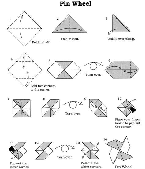 origami patterns for beginners origami vouwen windmolentje dover publications