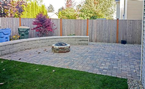 paver patio with pit concrete and paver patio installation in olympia and