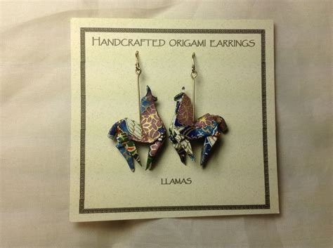 origami llama origami llama origami earrings llamas and