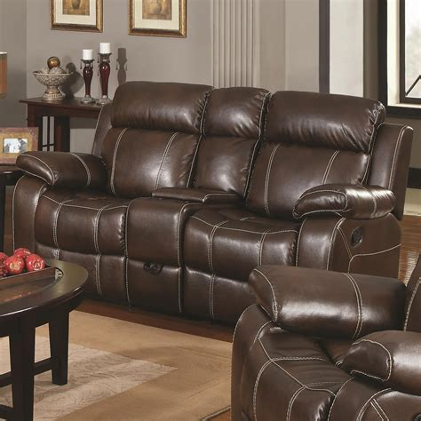 reclining sofa set myleene collection 603021 brown leather reclining sofa