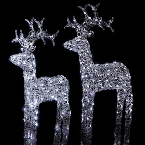 reindeer outdoor lights buy lewis outdoor led standing reindeer light white