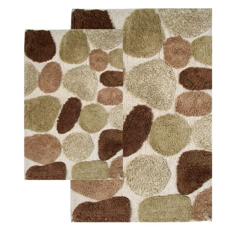 how to bathroom rugs chesapeake 26650 pebbles bath rug set khaki atg stores