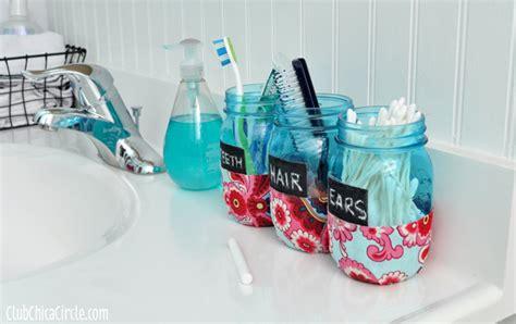 craft projects for tweens bathroom organization jars diy club chica circle