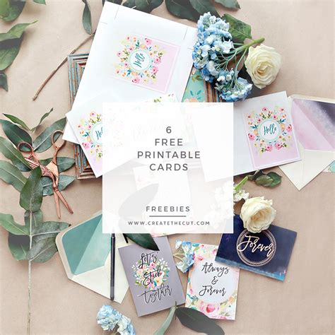 make a greeting card free printable 6 free printable greeting cards create the cut