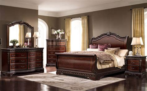 sleigh bedroom furniture sets 4 mcferran sleigh bedroom set