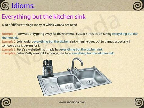kitchen sink expression 453 best images about idioms on