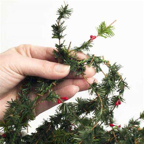 artificial pine roping artificial berry and fir pine roping garland
