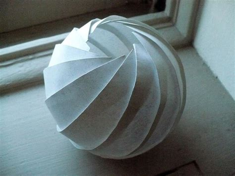 origami sphere 7457 best fold and cut images on paper
