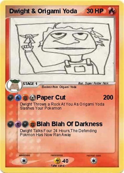 origami yoda dwight pok 233 mon dwight origami yoda paper cut my card