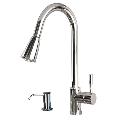 faucet kitchen contemporary 16 quot pull spray kitchen sink faucet with soap dispenser chrome ebay