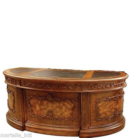 kidney shaped executive desk executive desk solid hardwood leather top burled kidney