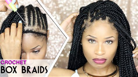 box braids with how to crochet box braids looks like the real thing