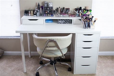 small makeup desk white ikea vanity makeup table with alex drawer and