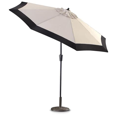 market patio umbrella castlecreek 9 two tone deluxe market patio umbrella