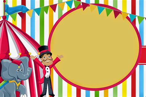 el circo invitaciones y etiquetas para candy bar para