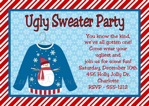 sweater invitations free sweater invitation templates