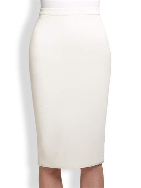 white knit pencil skirt theyskens theory sencil stretch knit pencil skirt in