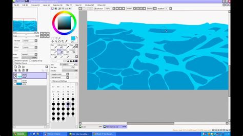 how to color water tutorial speedpaint how to do water