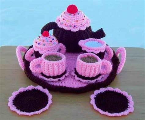knitted tea set pattern crochet tea set