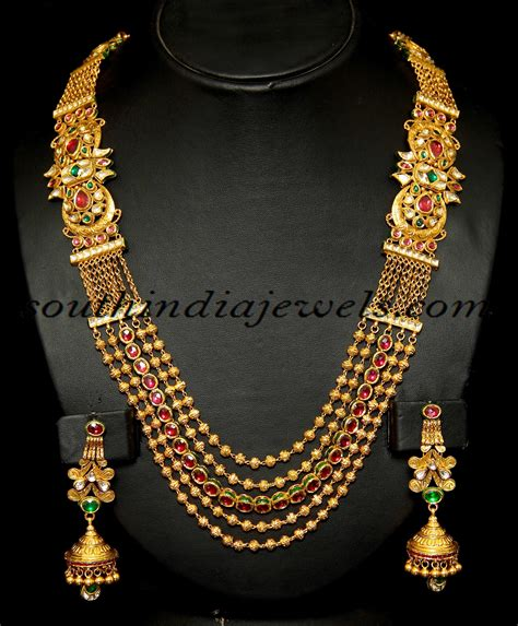 indian jewelry indian antique jewellery royal gold haram set antique