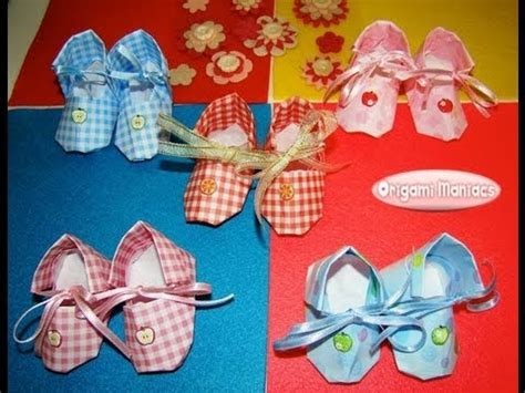 origami baby shoes diy origami booties how to make paper craft shoes s