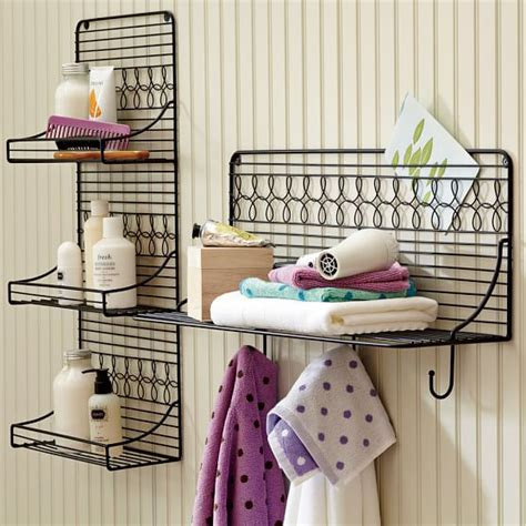 wire bathroom shelving wire bath shelving pbteen