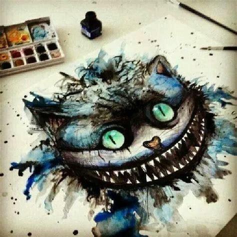 cheshire cats painting dibujo cheshire sonriente en el pais de las