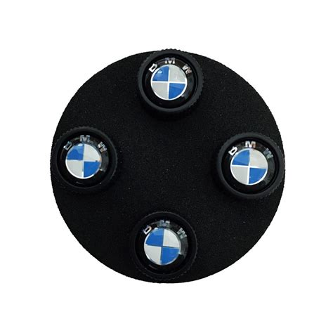 Bmw Valve Stem Caps by Shopbmwusa Bmw Roundel Valve Stem Caps Black