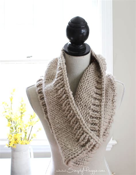 free knitting patterns for cowls chunky tri style knit cowl pattern free simplymaggie