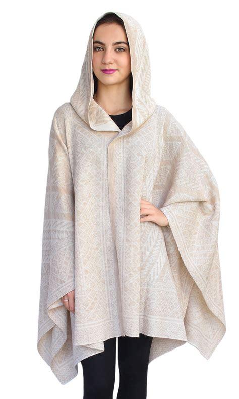 womens knitted hoodie s superfine alpaca wool hooded knitted ruana hoodie