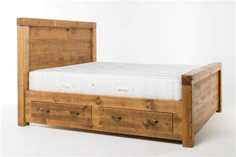 plank bed frame plank chunky frame king 5ft bed lpc furniture