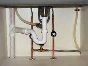 plumbing in a kitchen sink sink plumbing