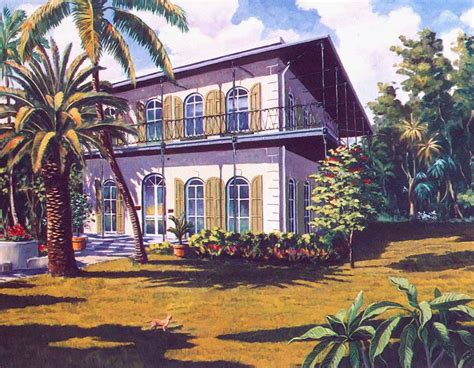 key west painting hemingway house in key west by george k salhofer