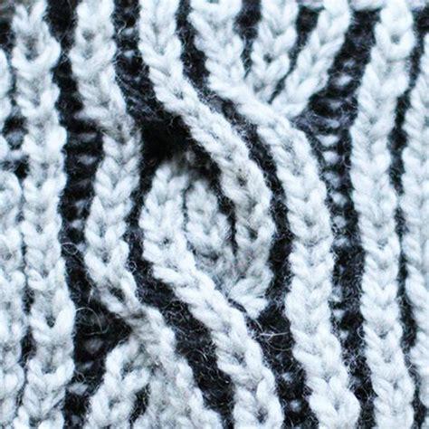 brioche knitting 2 color two colour brioche knitting cable englegarn brioche