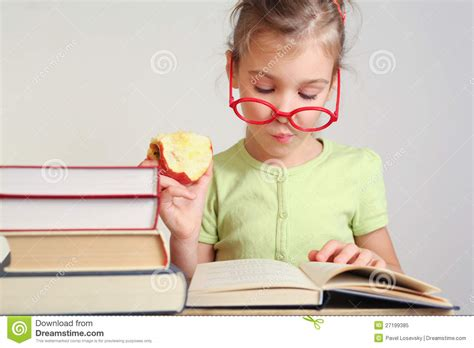 read picture books free in glasses read book royalty free stock photo