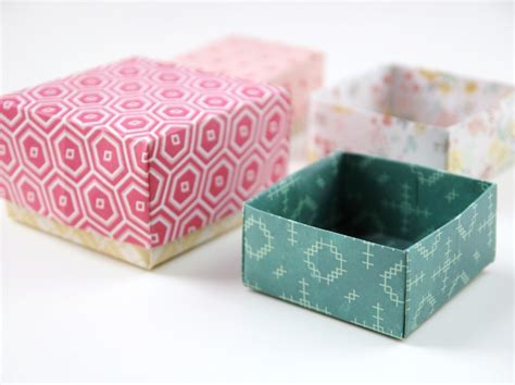 how to make a small origami box diy origami gift boxes gathering
