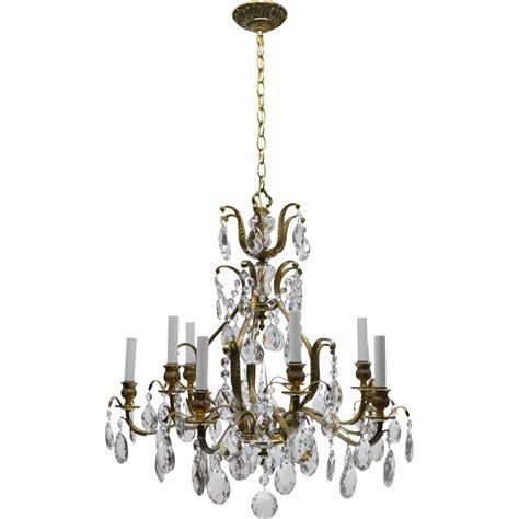 vintage brass chandeliers vintage swedish chandelier brass 10 lights