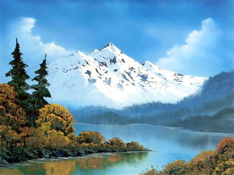 bob ross paintings mountains the of painting with bob ross winter mountains