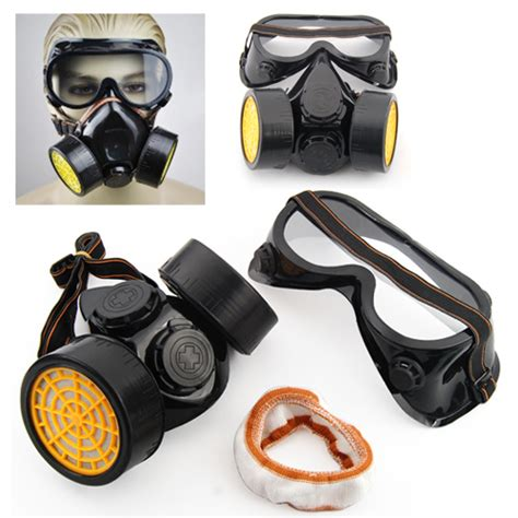 spray paint mask 2pc spray paint cartridge respirator mask goggles